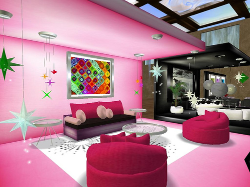 Colorful Living Room At The W Crest - Living Room Designs ...