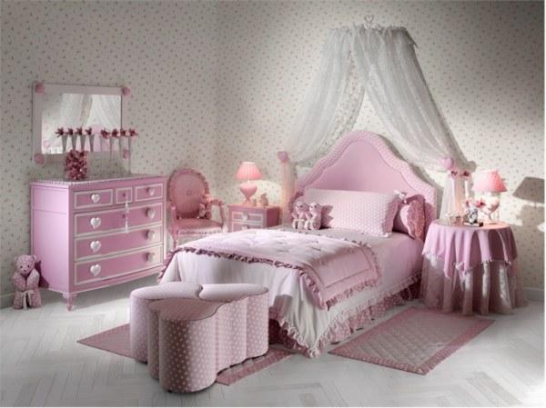heart themed kids room light light pink design
