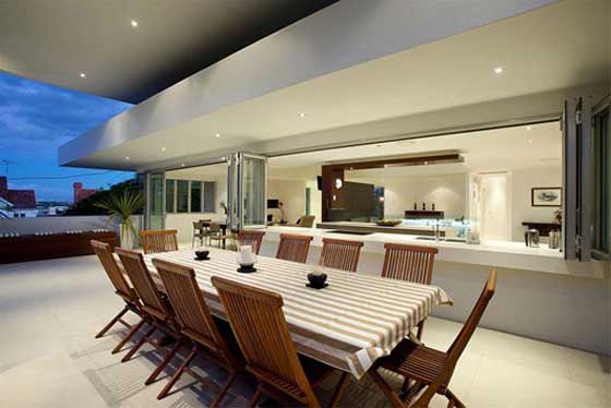 luxury residence in Hamilton Brisbane dining room
