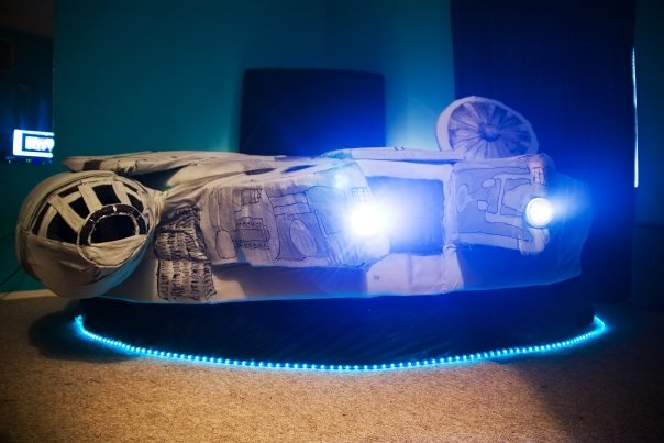 star wars bedroom set. Designed by Kayla Kromer the Millennium Falcon Bed is a Star Wars geek  dream come true I mean look at it bed shaped like Shaped from Home Gallery