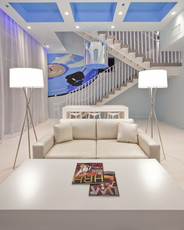 Miami Blue Suite At The Hard Rock Hotel Las Vegas By Chemical Spaces Home Gallery