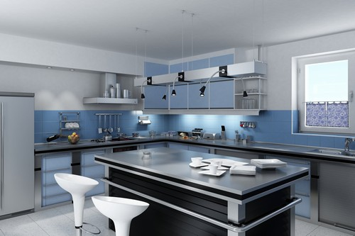 one of the newer trends in kitchen design is to open the kitchen to ...