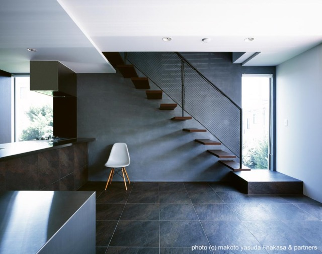 O House interior design staircase