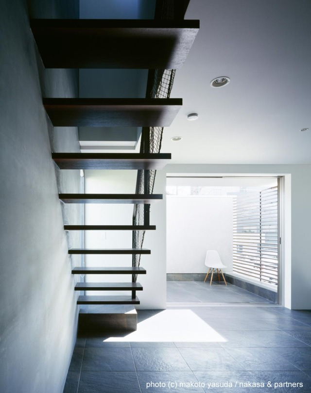 O House interior space staircase