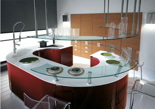 rounded modern  kitchens design