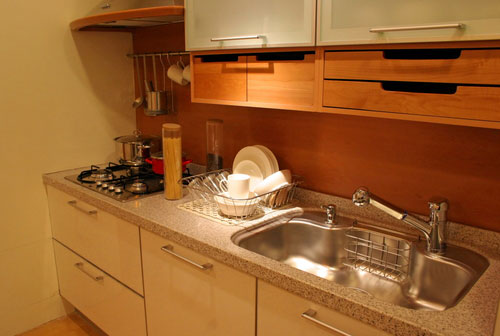 Small kitchen design sink