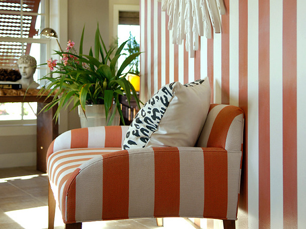 Orange Striped Foyer