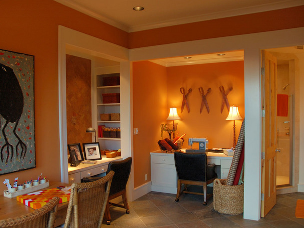 soft pumpkin orange room
