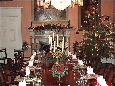 Christmas interior decorating