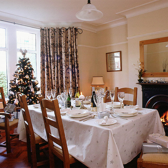 christmas interior decorating dinning room home gallery