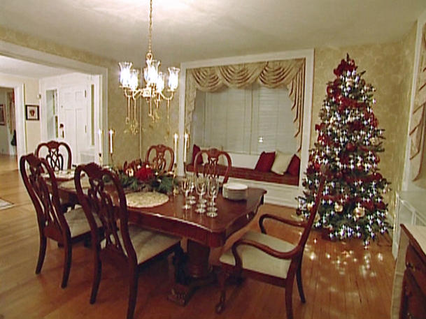 Christmas interior decorating dinning room home gallery Christmas decorations interior design
